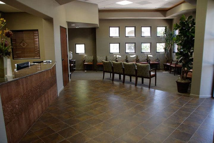 interior view of the building lobby