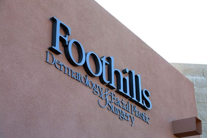 logo signage on front of building