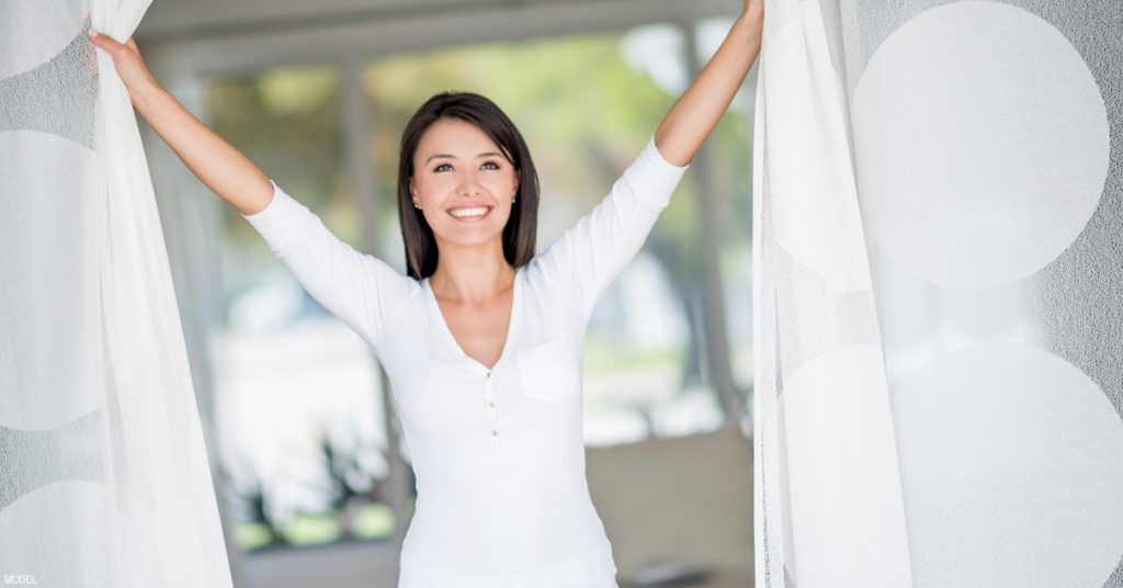 Confident, thin woman months after CoolSculpting® treatments